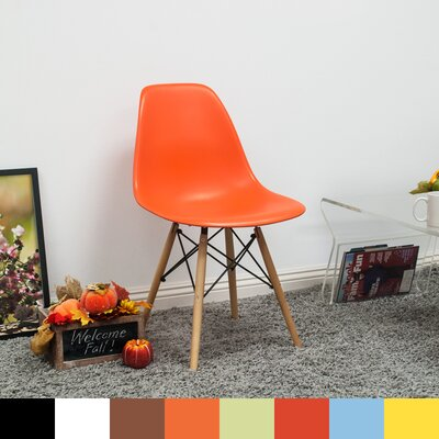 Paris Tower Solid Wood Dining Chair Finish: Orange