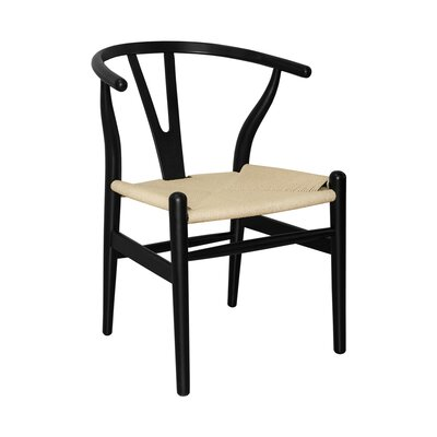 W Solid Wood Dining Chair Finish: Black