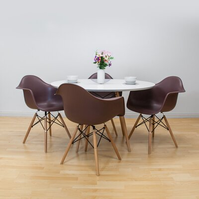 Paris Tower 5 Piece Dining Set Finish: Chocolate