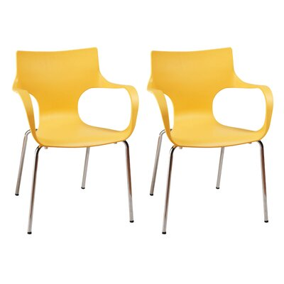 Phin Arm Chair Finish: Yellow