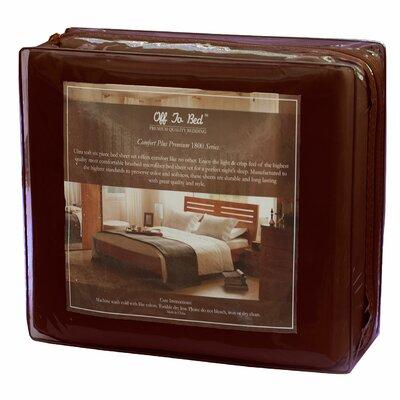 6 Piece Comfort Deep Pocket Sheet Set Size: King, Color: Brown