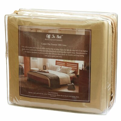 6 Piece Comfort Deep Pocket Sheet Set Size: King, Color: Gold