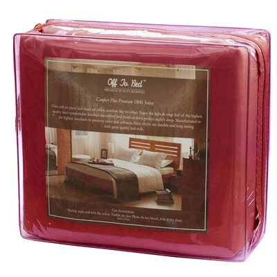 6 Piece Comfort Deep Pocket Sheet Set Color: Burgundy, Size: Queen