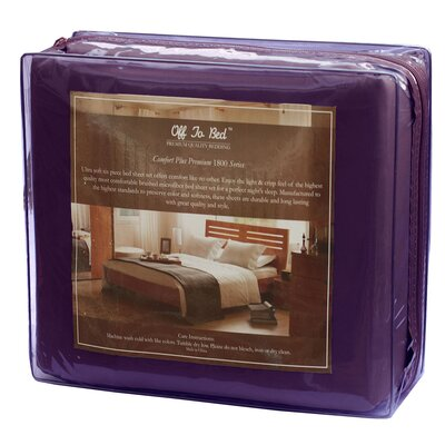 6 Piece Comfort Deep Pocket Sheet Set Color: Purple, Size: Queen