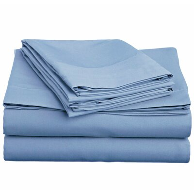 4 Piece Twin Sheet Set Color: Serenity Blue