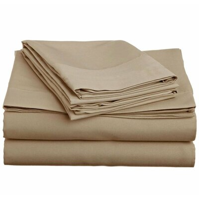 1500 Thread Count 4 Piece Twin Sheet Set Color: Taupe