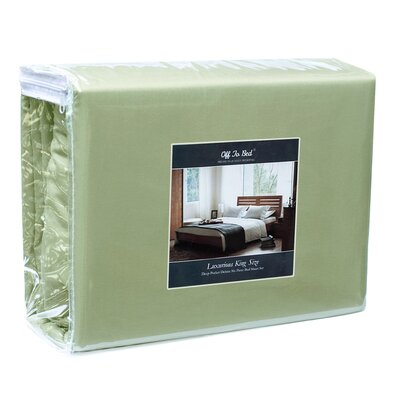 1500 Thread Count 4 Piece Twin Sheet Set Color: Sage