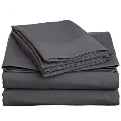 4 Piece Twin Sheet Set Color: Grey