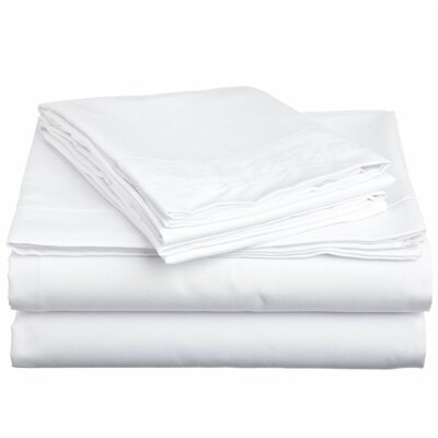 4 Piece Twin Sheet Set Color: White