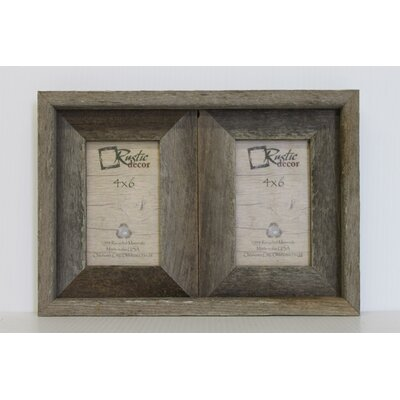 Barn Wood 2 Opening Picture Frame Size: 6