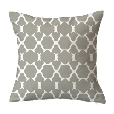 Villa Geometric Throw Pillow Size: 16 H x 16 W x 4 D, Color: Grey