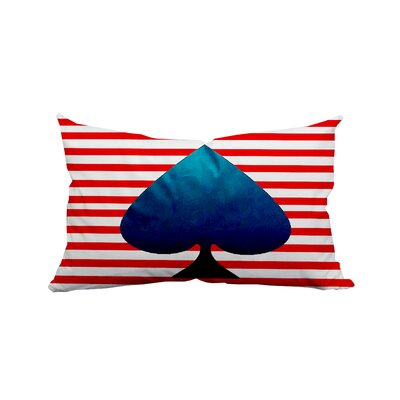 Ace of Spades Horizontal Stripes Lumbar Pillow