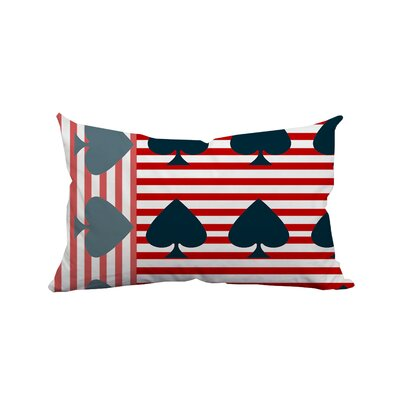 Ace of Spades Flag Striped Lumbar Pillow