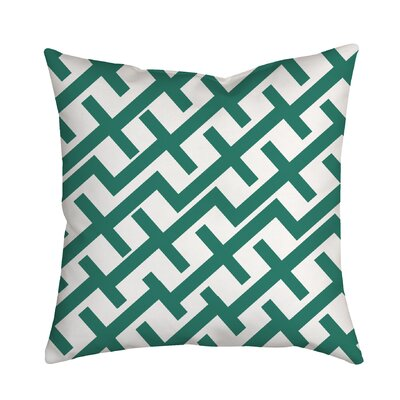 Positive Lines Geometric Throw Pillow Color: Teal