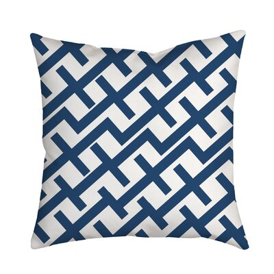 Positive Lines Geometric Throw Pillow Color: Navy