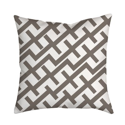 Positive Lines Geometric Throw Pillow Color: Brown Grey