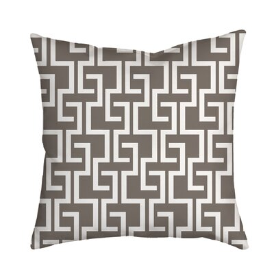 Greek Fret Bold Geometric Throw Pillow Size: 18 H x 18 W x 2 D, Color: Brown Grey