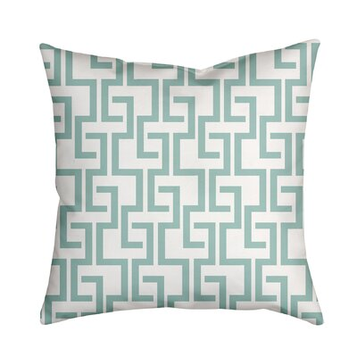 Greek Fret Bold Geometric Throw Pillow Size: 18 H x 18 W x 2 D, Color: Blue