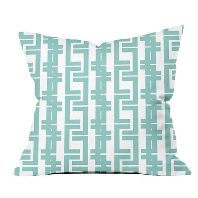 Interlocking Lines Geometric Throw Pillow Size: 20 H x 20 W x 2 D, Color: Blue