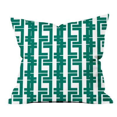 Interlocking Lines Geometric Throw Pillow Size: 20 H x 20 W x 2 D, Color: Teal