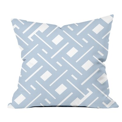 Garden Fencing Geometric Throw Pillow Size: 18 H x 18 W x 2 D, Color: Blue