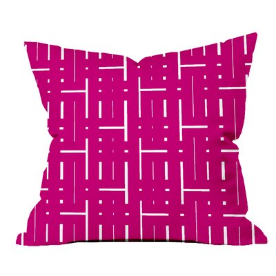 Through the Lattice Geometric Throw Pillow Size: 18 H x 18 W x 2 D, Color: Purple