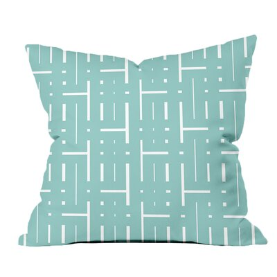 Through the Lattice Geometric Throw Pillow Size: 20 H x 20 W x 2 D, Color: Blue