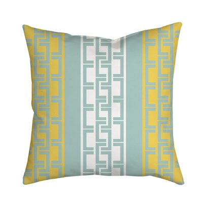 Lounge Essential Geometric Throw Pillow Size: 18 H x 18 W x 2 D, Color: Yellow