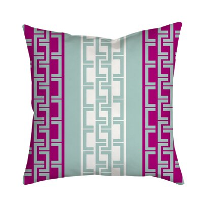 Lounge Essential Geometric Throw Pillow Size: 20 H x 20 W x 2 D, Color: Purple
