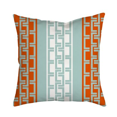 Lounge Essential Geometric Throw Pillow Size: 20 H x 20 W x 2 D, Color: Orange