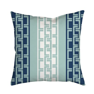 Lounge Essential Geometric Throw Pillow Size: 20 H x 20 W x 2 D, Color: Navy