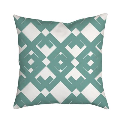 Coastal Diamant� Geometric Throw Pillow Size: 18 H x 18 W x 2 D, Color: Teal
