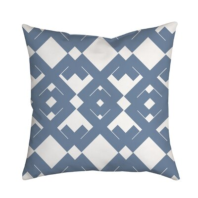 Coastal Diamant� Geometric Throw Pillow Size: 20 H x 20 W x 2 D, Color: Blue