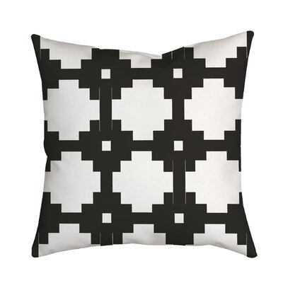 Essential Connection Geometric Throw Pillow Size: 20 H x 20 W x 2 D, Color: Black
