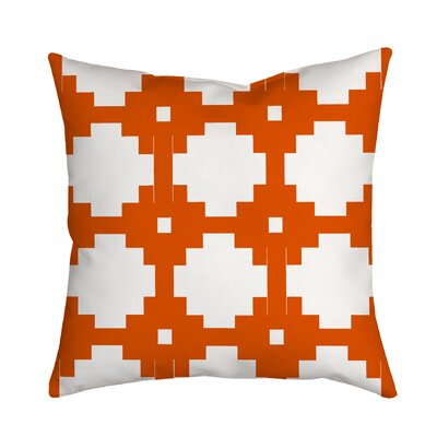 Essential Connection Geometric Throw Pillow Size: 18 H x 18 W x 2 D, Color: Orange