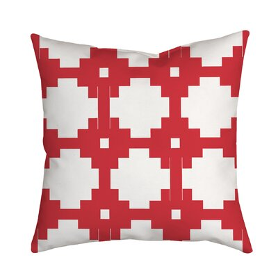 Essential Connection Geometric Throw Pillow Size: 18 H x 18 W x 2 D, Color: Red