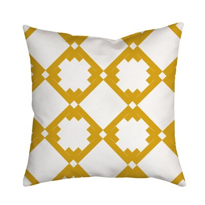 Diamonds Throw Pillow Size: 18 H x 18 W x 2 D, Color: Yellow