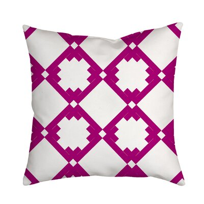 Diamonds Throw Pillow Size: 20 H x 20 W x 2 D, Color: Purple