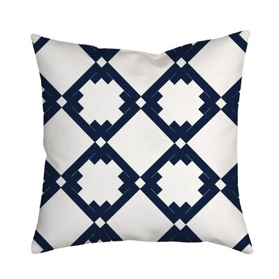 Diamonds Throw Pillow Size: 18 H x 18 W x 2 D, Color: Navy