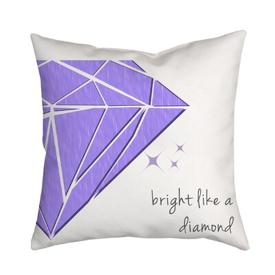 Bright Like a Diamond Throw Pillow Color: Purple