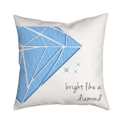 Bright Like a Diamond Throw Pillow Color: Blue