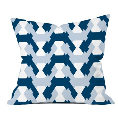 Hexagon Twists Geometric Throw Pillow Size: 18 H x 18 W x 2 D, Color: Navy