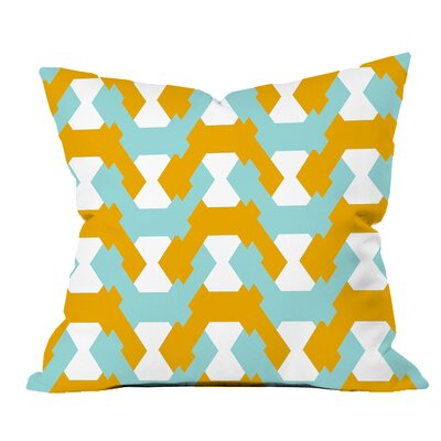 Hexagon Twists Geometric Throw Pillow Size: 18 H x 18 W x 2 D, Color: Yellow