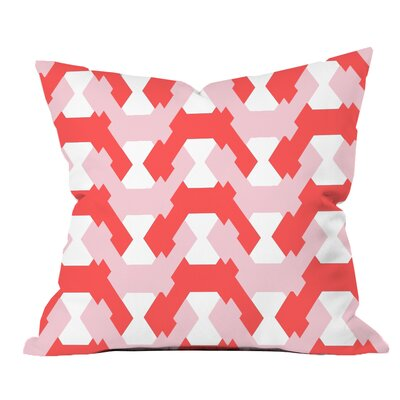 Hexagon Twists Geometric Throw Pillow Size: 20 H x 20 W x 2 D, Color: Pink