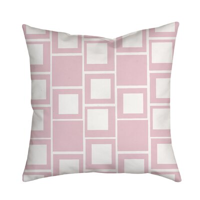 Square Up Geometric Throw Pillow Color: Pink
