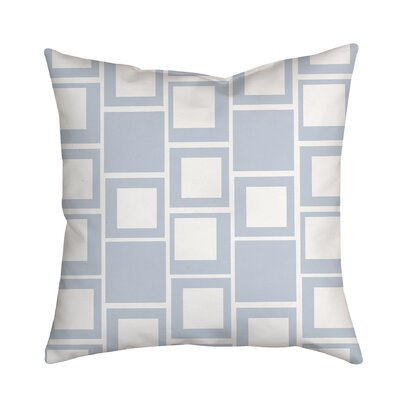 Square Up Geometric Throw Pillow Color: Satin Blue