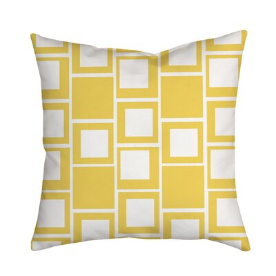 Square Up Geometric Throw Pillow Color: Yellow