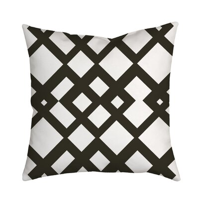 Summer Escapade Geometric Throw Pillow Size: 18 H x 18 W x 2 D, Color: Brown