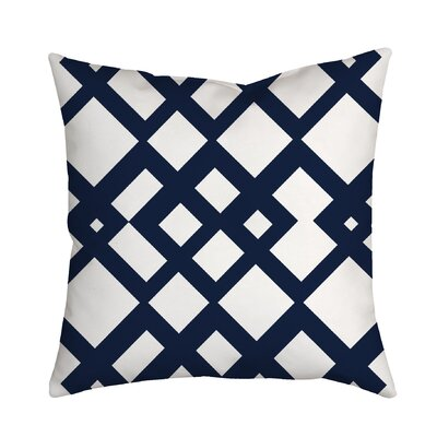 Summer Escapade Geometric Throw Pillow Size: 18 H x 18 W x 2 D, Color: Navy
