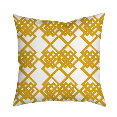 Summer Escapade Geometric Throw Pillow Size: 18 H x 18 W x 2 D, Color: Yellow